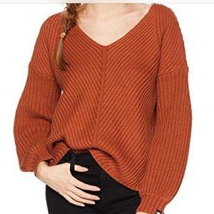 OBEY burnt orange sweater